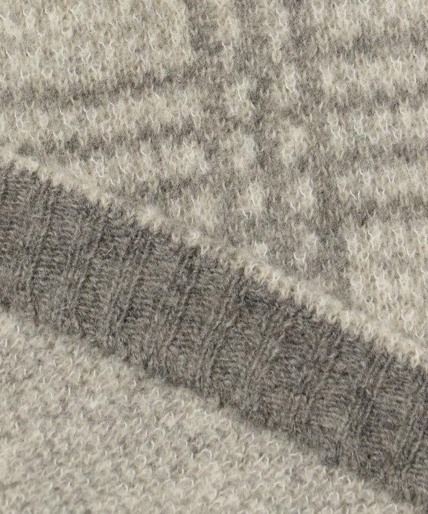 JOSEPH ABBOUD 【キングサイズ】ムースジャガードチェック 羽織りニット