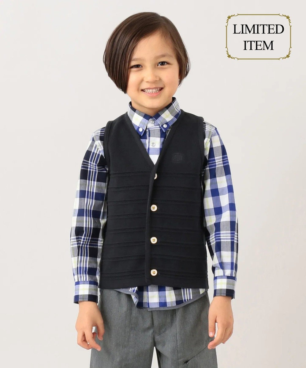 J.PRESS KIDS 【一部店舗限定/110-130cm】ニット ベスト ネイビー系