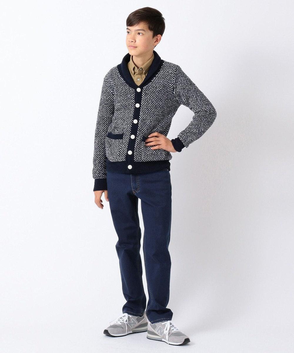 J.PRESS KIDS 【140-170cm】シャギードッグフリースポップコーンショール カーディガン ネイビー系