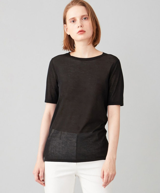 JOSEPH 【洗える】シルクコットンライト 半袖 Tシャツ ニット