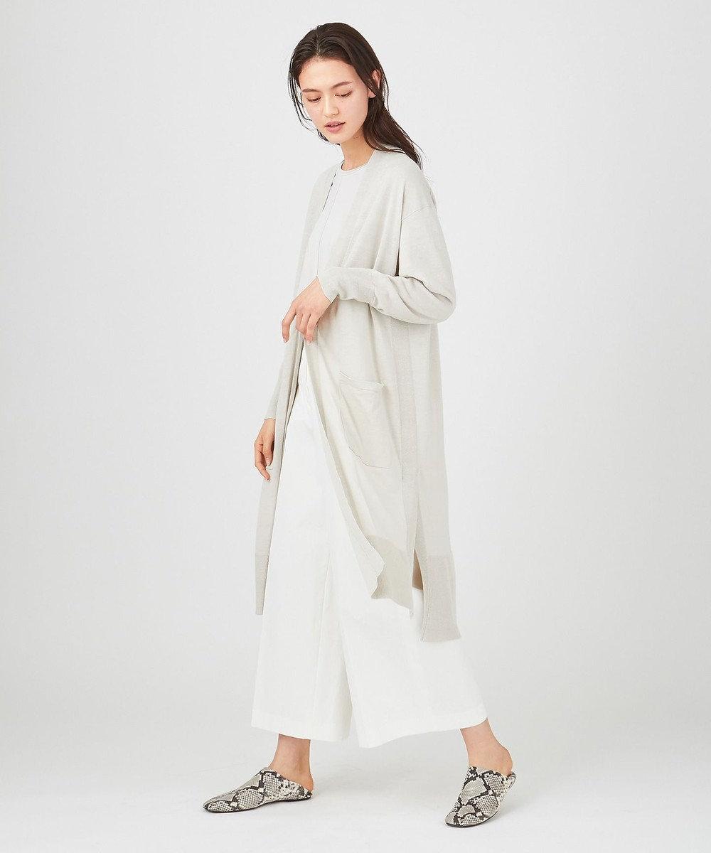 JOSEPH 【柚香 光さん着用】リネンシルク / ロング カーディガン ライトグレー系