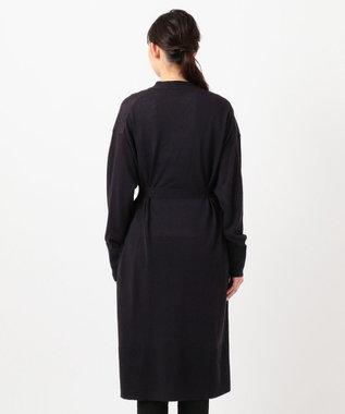 JOSEPH 【柚香 光さん着用】リネンシルク / ロング カーディガン ネイビー系