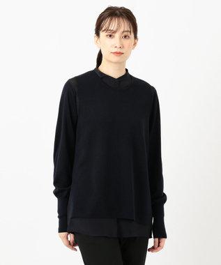 JOSEPH メリノシルク / シャツ&ニット セット ネイビー系