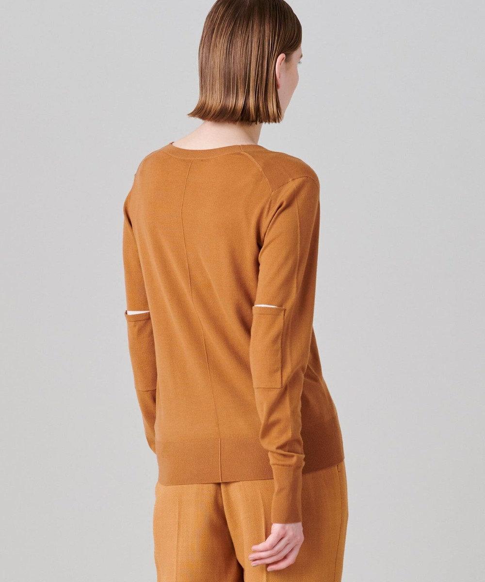 JOSEPH 【洗える】スキン / Vネックニット オレンジ系