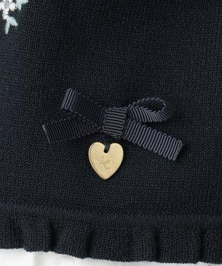 組曲 KIDS 【ひなちゃん着用/110-140cm】プチフラワー刺繍 カーディガン ネイビー系7