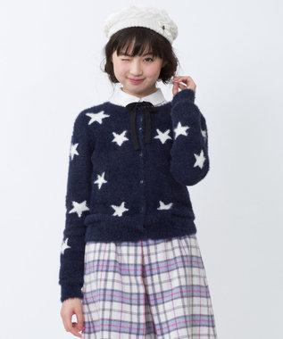 組曲 KIDS 【SCHOOL】Twinkleシャギーカーディガン ネイビー系