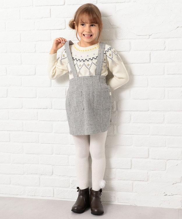 組曲 KIDS 【110~170cm】フェアアイルニット アイボリー系5