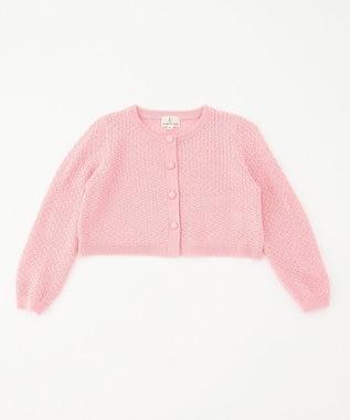 組曲 KIDS 【90~100cm】透かし柄 カーディガン ピンク系