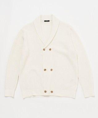 23区HOMME 【キングサイズ】ショールカラーカーディガン ホワイト系