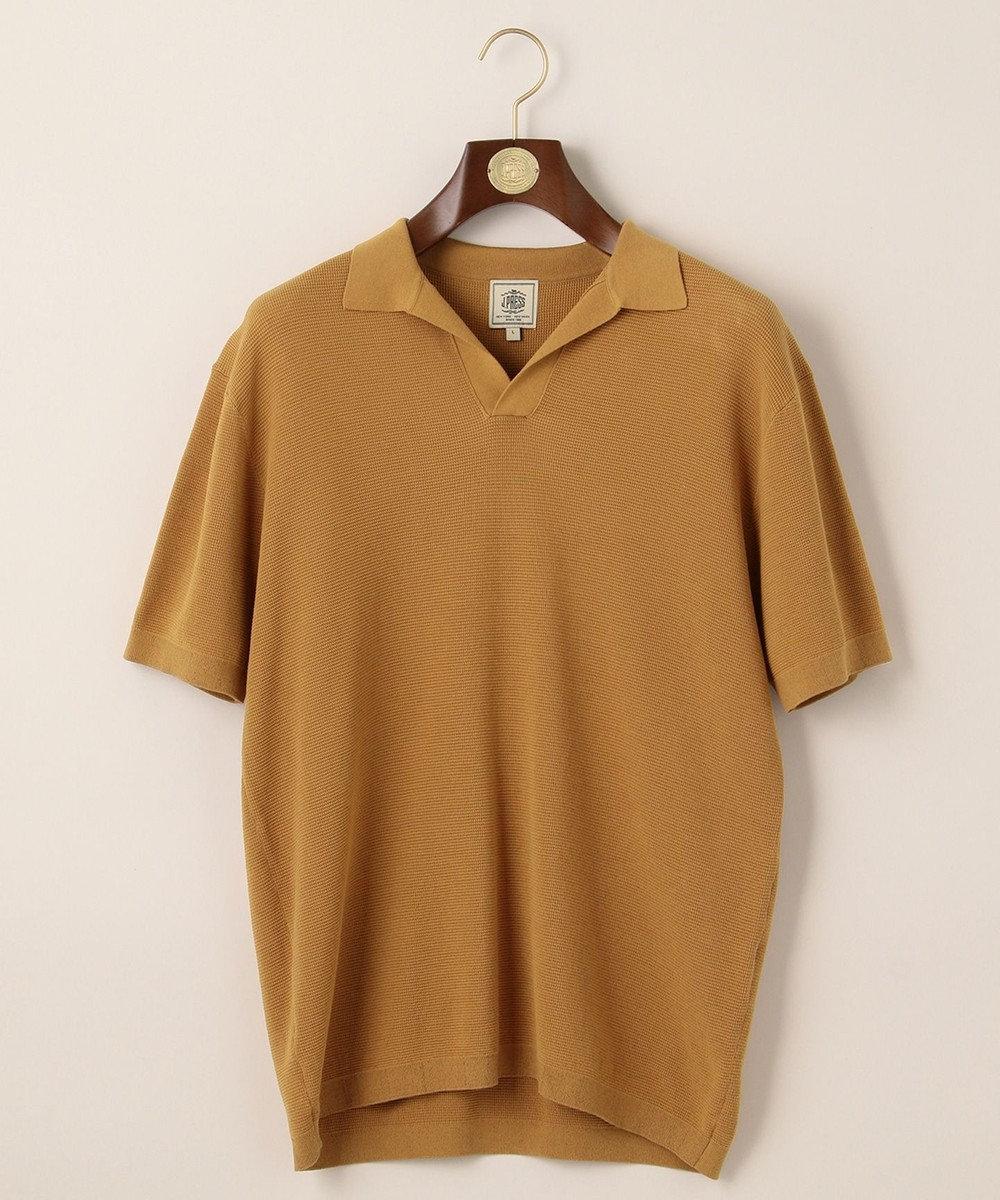J.PRESS MEN ハイゲージスキッパー ニットポロシャツ ブラウン系