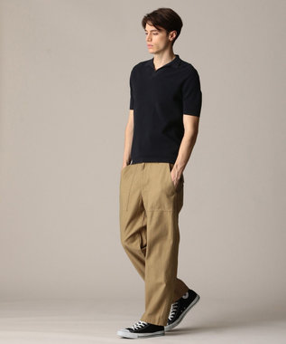 J.PRESS MEN ハイゲージスキッパー ニットポロシャツ ネイビー系