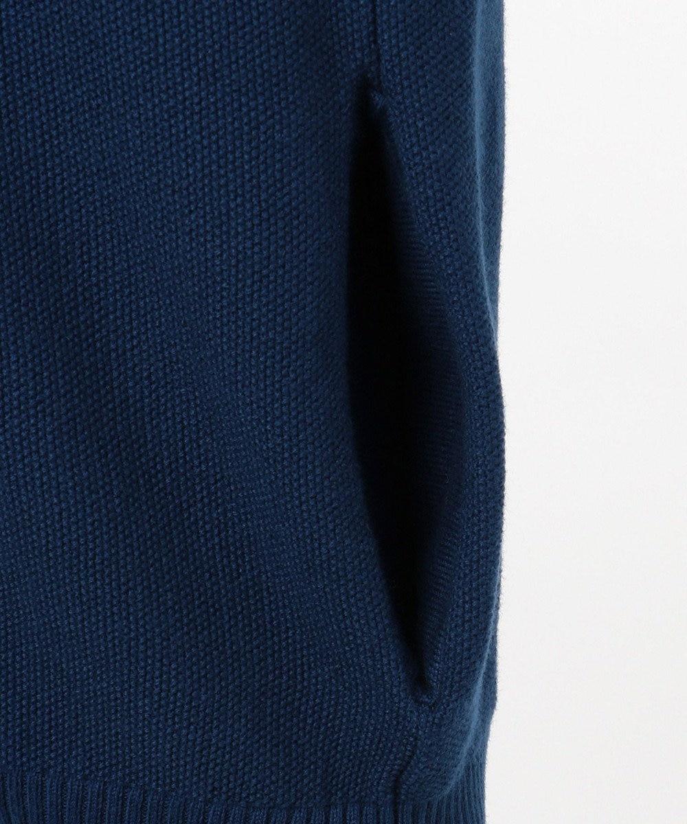J.PRESS MEN 【大人気】綿カシミヤ 鹿の子フルジップニット / カーディガン ネイビー系
