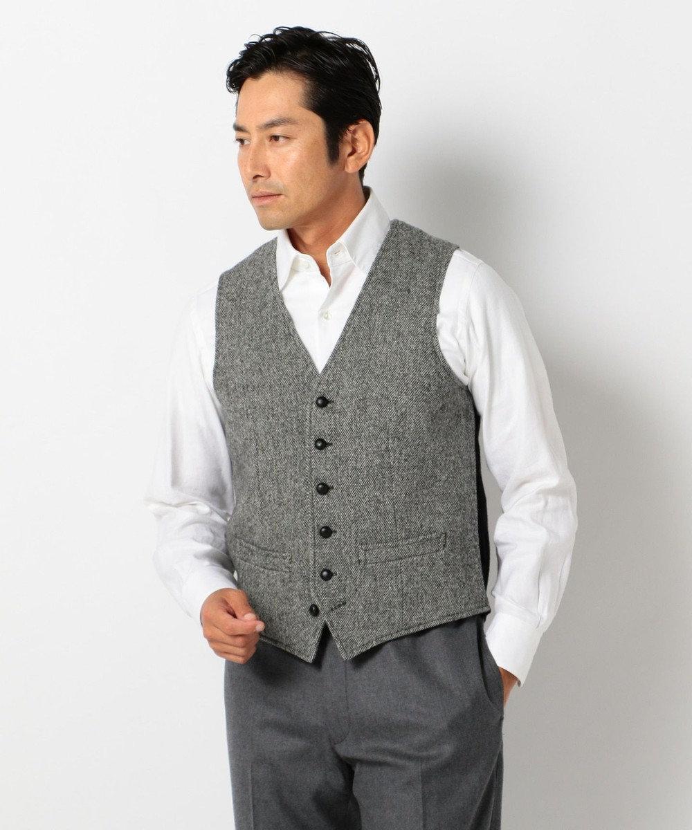 J.PRESS MEN 【ORIGINALS】LAVEROCK TWEED サドル ベスト グレー系1