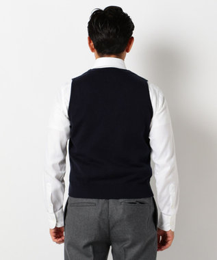 J.PRESS MEN 【ORIGINALS】LAVEROCK TWEED サドル ベスト ネイビー系1