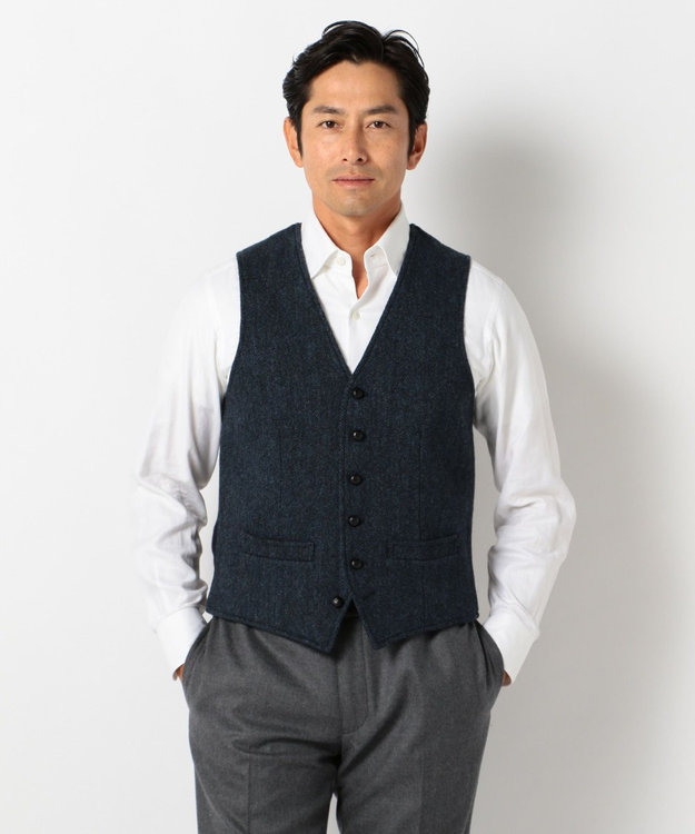 J.PRESS MEN 【ORIGINALS】LAVEROCK TWEED サドル ベスト
