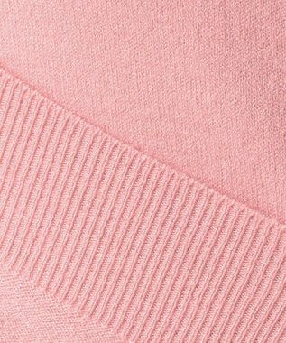 Feroux 【洗える】フリルポイント カーディガン ピンク系