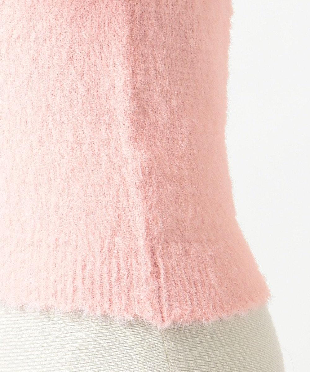 Feroux フェザーコンビパール ニット ピンク系