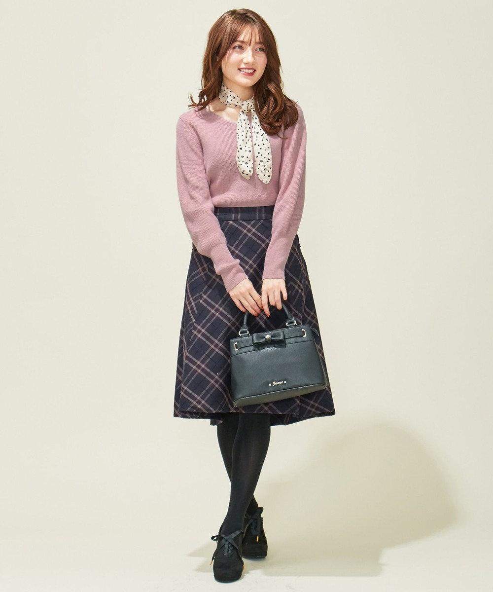 Feroux 【スカーフ付き】ニット トップス ピンク系