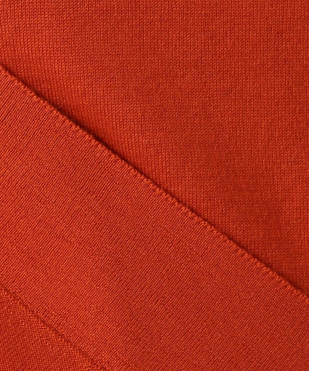 Paul Smith 【WEB限定アイテム】FLORAL RIVER ウーブンパネル ニット オレンジ系