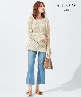 23区 【SLOW】リリヤーン クロッシェ ニット アイボリー系