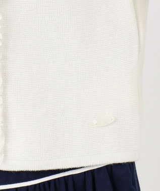 TOCCA BAMBINI 【150-160cm】ミラノリブフリル カーディガン ホワイト系