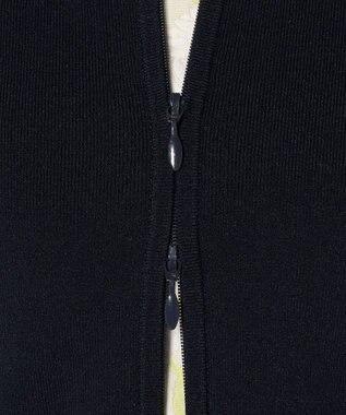 TOCCA 【洗える!】RIBBON HOODIE ニットパーカー ネイビー系