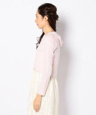 TOCCA 【洗える!】PETIT RIBBON HOODIE ボレロ パーカー ピンク系