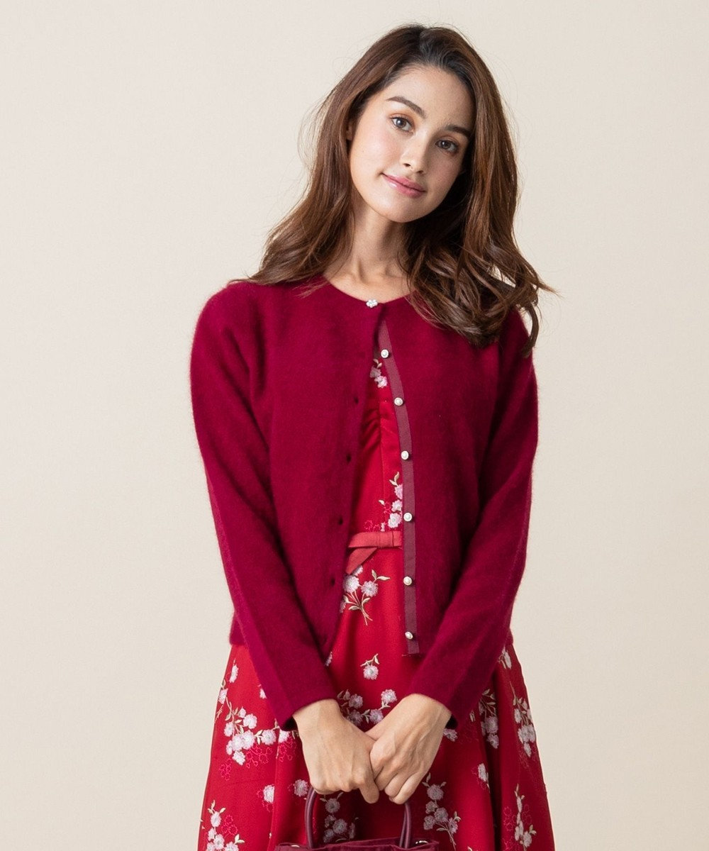 TOCCA RACOON CASHMERE カーディガン ワイン系