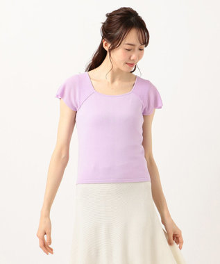 TOCCA 【TOCCA LAVENDER】Flare Sleeve Pullover ニット ライラック系
