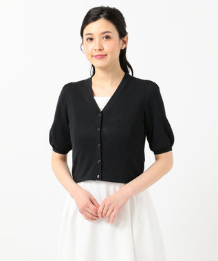 TOCCA 【TOCCA LAVENDER】Shortーsleeved カーディガン ブラック系