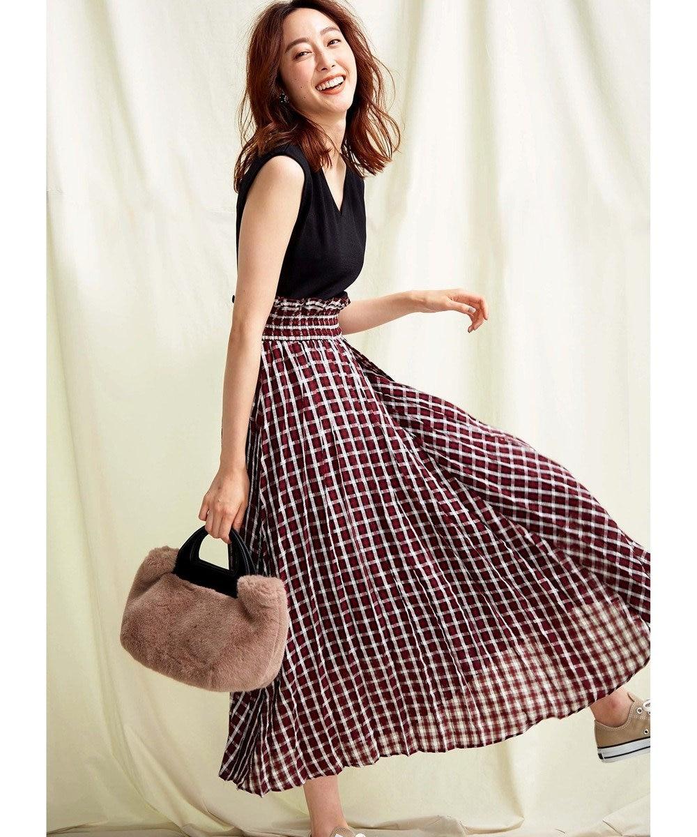 TOCCA 【TOCCA LAVENDER】Pleats Check Knit Dress ニットドレス ブラック系5