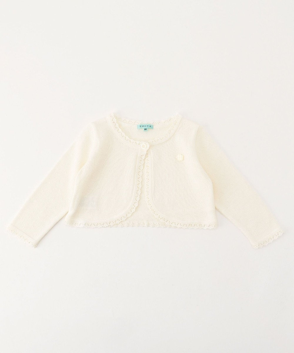 TOCCA BAMBINI 【BABY】Airelle Rouge カーディガン ホワイト系