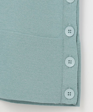 自由区 L 【UNFILO】BUTTON VARIATION フレアスリーブ ニット ブルー系