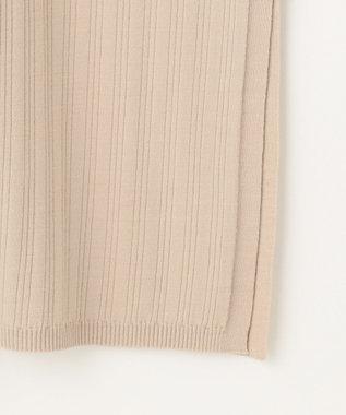 自由区 【Unfilo】ビスコースランダムリブ カーディガン ベージュ系