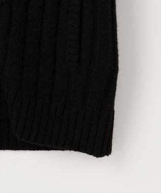 自由区 【UNFILO】中綿 ニットベスト ブラック系
