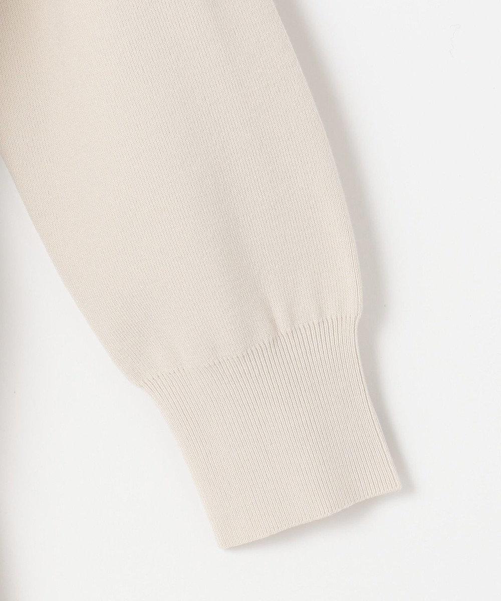 自由区 【UNFILO・抗菌防臭】カラーベーシックニット フーデッドカーディガン ホワイト系
