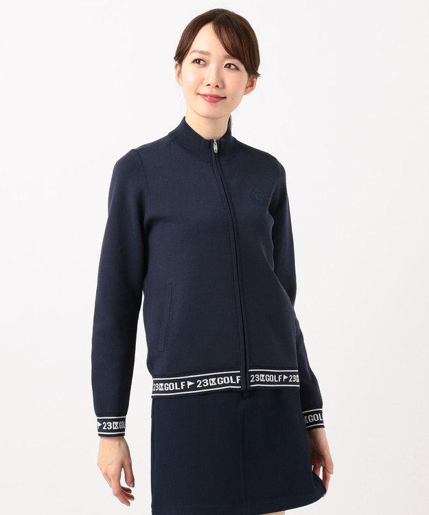 23区GOLF 【WOMEN】【UV】綿ポリエステル ニットブルゾン