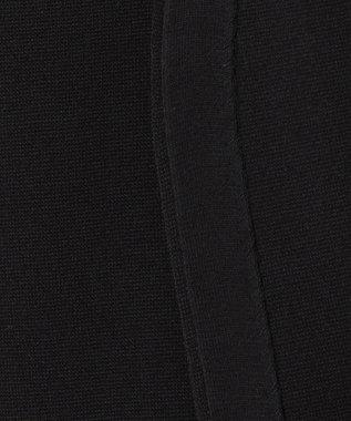 自由区 【洗える】コットンアセテート カーディガン ブラック系