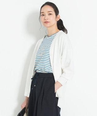 【マガジン掲載】ハイゲージコットン カラーカーディガン(検索番号G28)