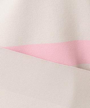 自由区 【洗える】ATHENA チュニック丈ニット ピンク系2