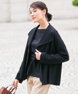 自由区 【マガジン掲載】ウールストレッチ ニットジャケット(検索番号N56) ブラック系