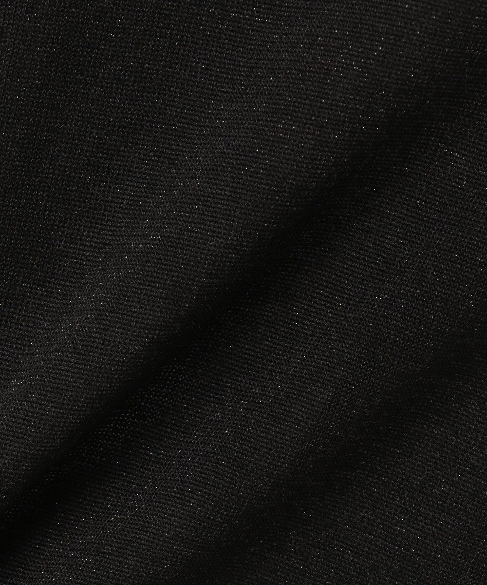 自由区 ラメプレーティング クルーネックカーディガン(検索番号C36) ブラック系