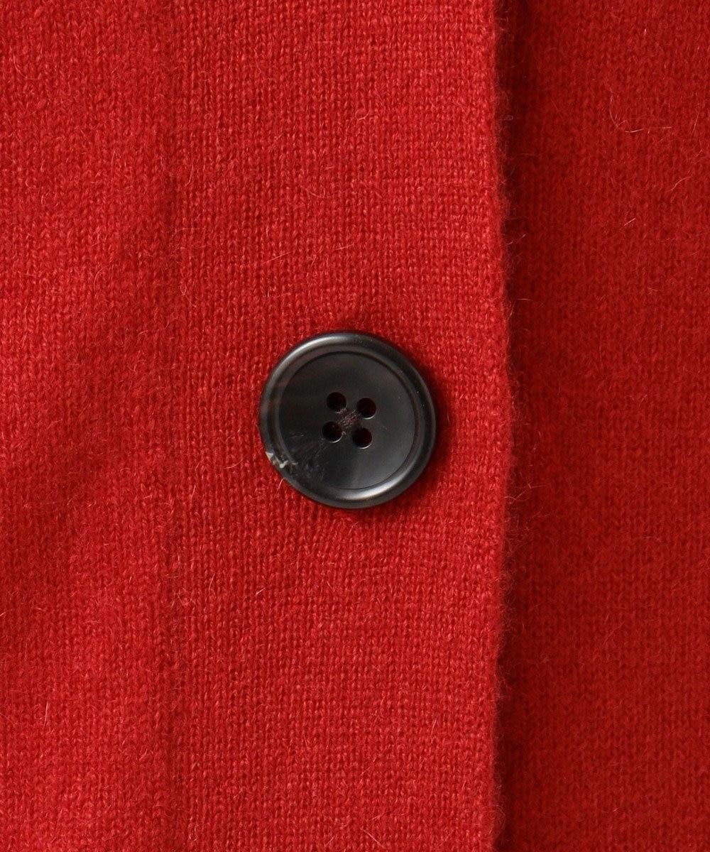 自由区 【亜希さん着用】ピュアカシミヤミルド Vネックカーディガン(検索番号Q45) レッド系