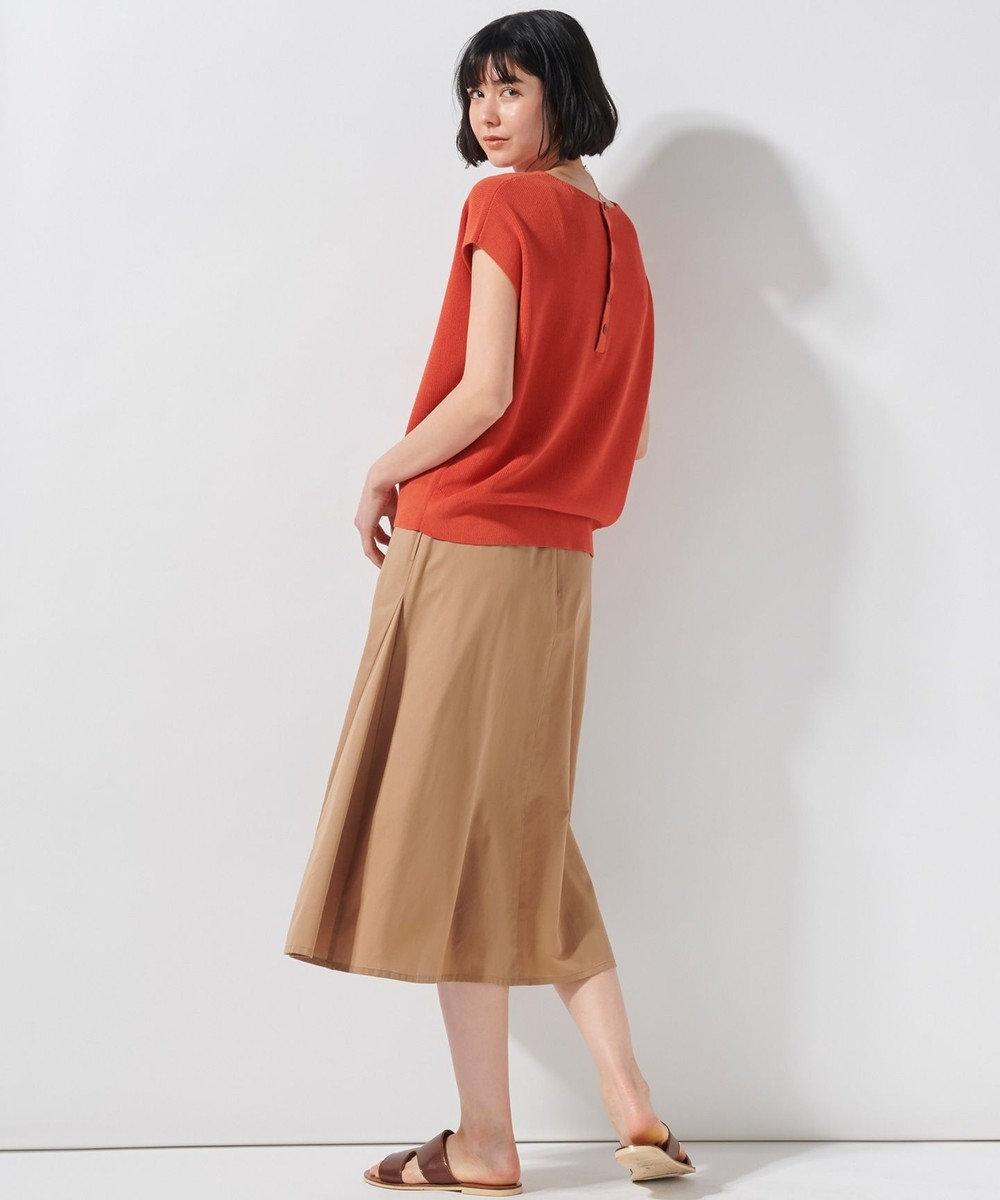 23区 【洗える】ドライコットンブレンドニット オレンジ系