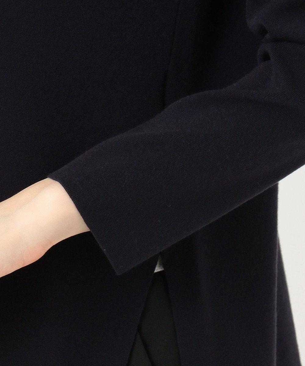 23区 【洗える】ヴィスコースストレッチ クルーネック ニット ネイビー系