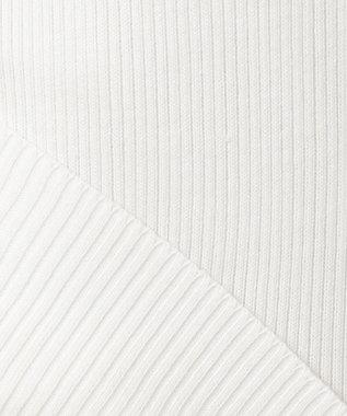 23区 S 【洗える】サスティナブル コットン タンクトップ ホワイト系