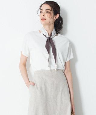 23区 【洗える】レーヨンポリエステル ストレッチ ニット ホワイト系
