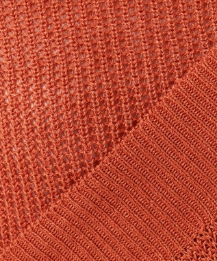 23区 L 【洗える】フレンチフラックスノースリーブニット オレンジ系