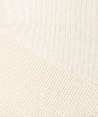 23区 L 【洗える】コットンカシミヤスムース パーカー アイボリー系