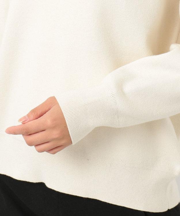23区 L 【洗える】コットンカシミヤスムース パーカー